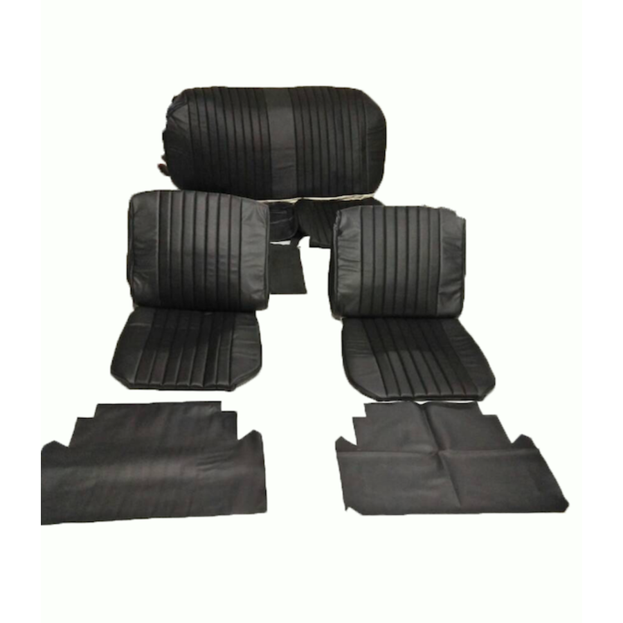 Seat cover set (2 front 1 rear) in black leatherette Citroën ID/DS-1
