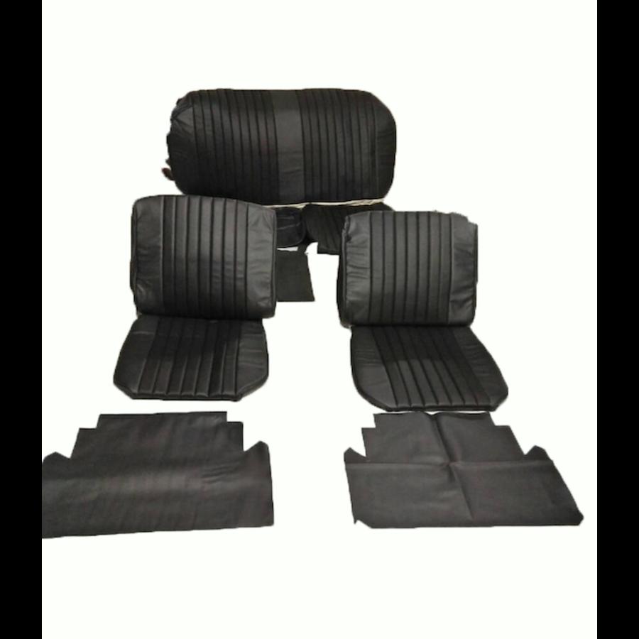 Voorstoelhoezen [2] plus achterbankhoes zwart skai Citroën ID/DS-1