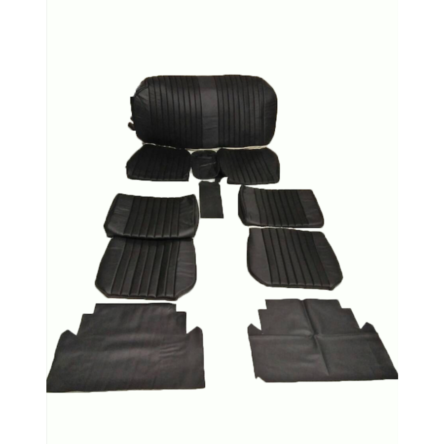Seat cover set (2 front 1 rear) in black leatherette Citroën ID/DS-2