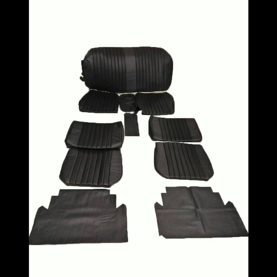 Voorstoelhoezen [2] plus achterbankhoes zwart skai Citroën ID/DS-2