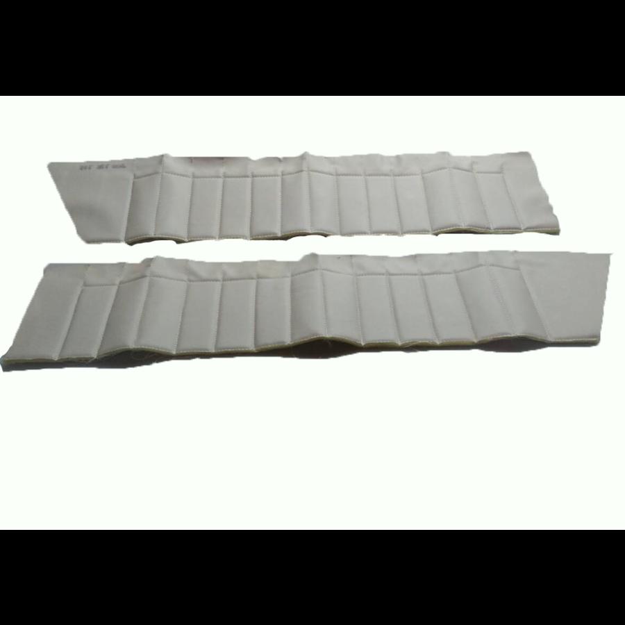 Upper door trim set [4] white leatherette (pallas) for all 4 doors Citroën ID/DS-3