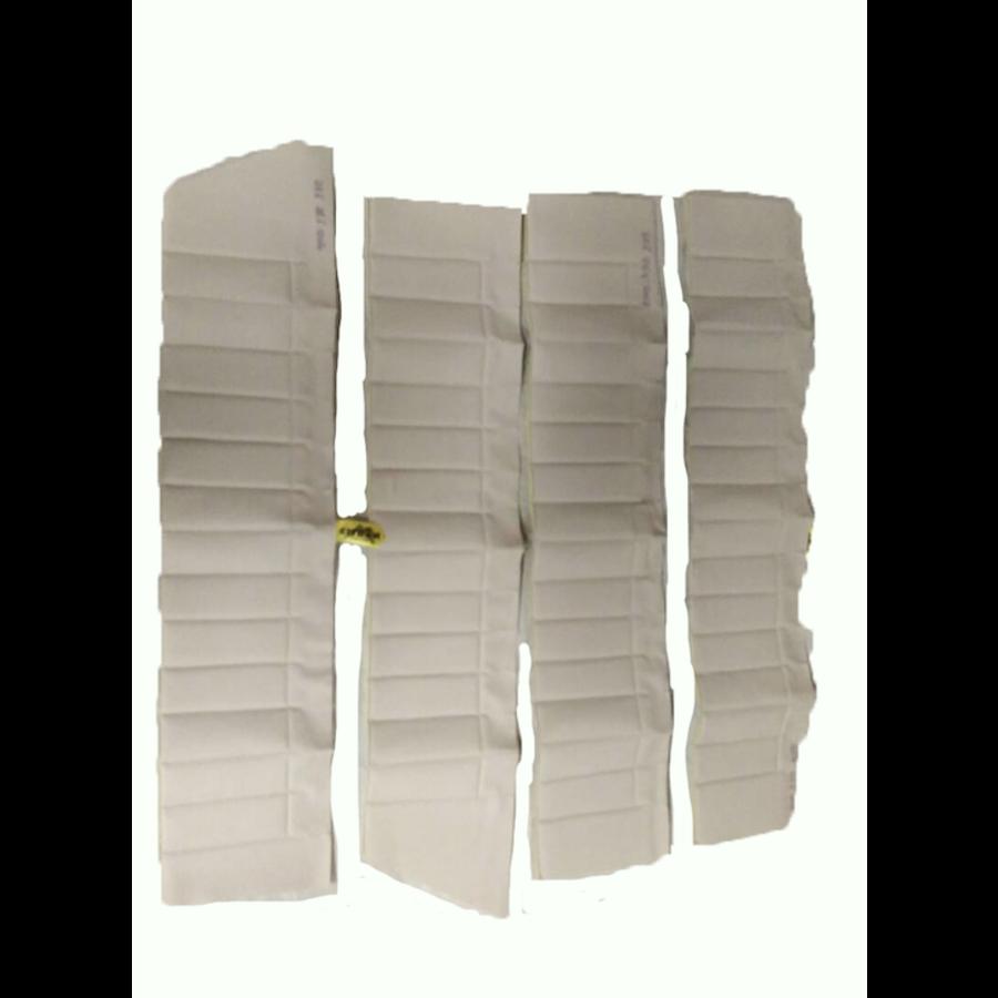 Upper door trim set [4] white leatherette (pallas) for all 4 doors Citroën ID/DS-1