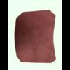 ID/DS Garniture inférieure du pied du milieu G en cuir rouge Citroën ID/DS