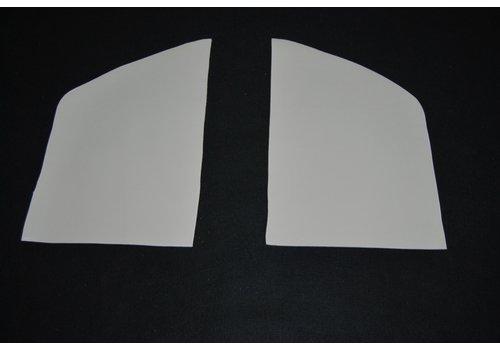 ID/DS Garniture D+G des custodes interieurs en skai blanc Citroën ID/DS