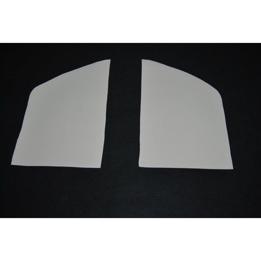 Set[2] voor bekleding van de binnenkant van de C stijl in wit skai Citroën ID/DS-1