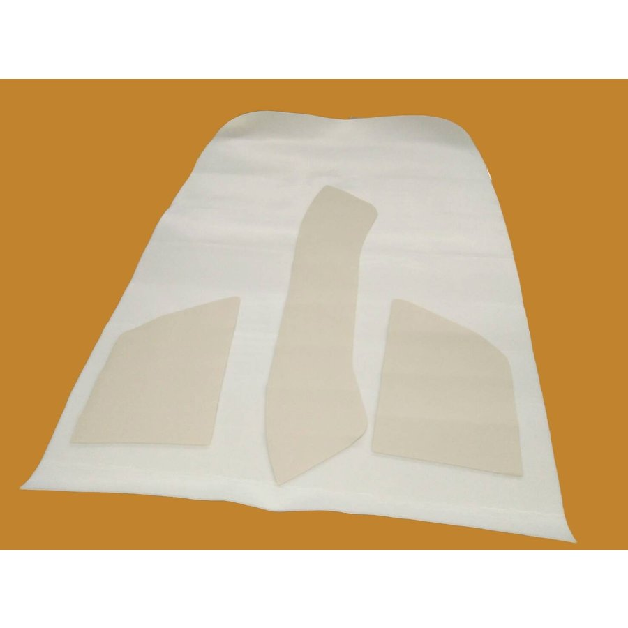 Upholstery for inside of roof white leatherette (4 pieces) Citroën ID/DS-2