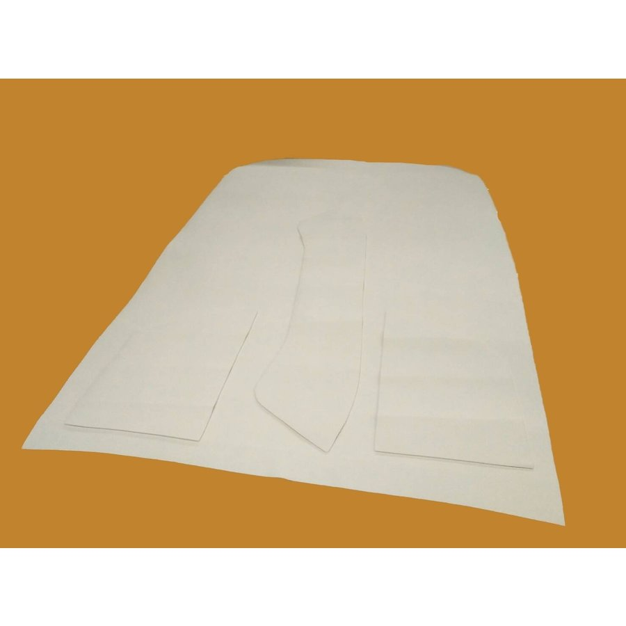 Upholstery for inside of roof white leatherette (4 pieces) Citroën ID/DS-3