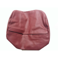 thumb-Original front seat cover red leather (seat back closing panel and head rest cover) Citroën SM-3