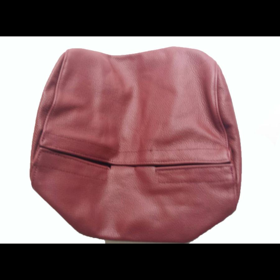 Garniture origine siège AV cuir rouge (assise dossier panneau de fermeture et housse pour repose-tête) Citroën SM-3
