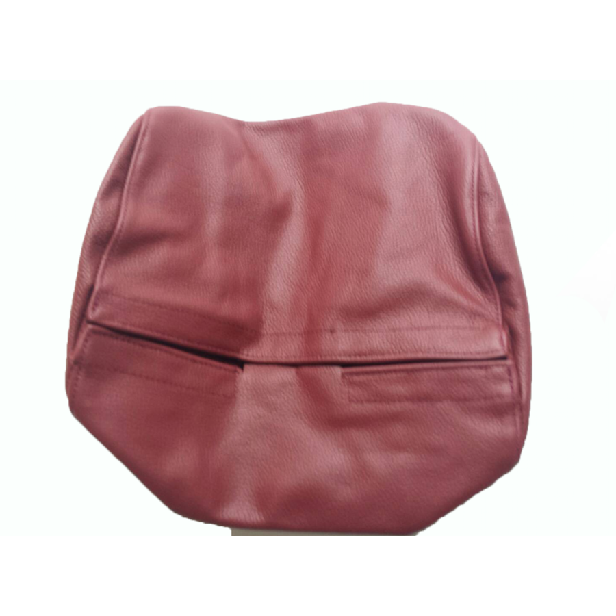 Original front seat cover red leather (seat back closing panel and head rest cover) Citroën SM-3