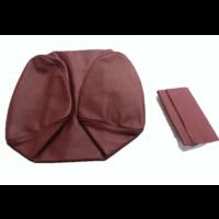 thumb-Garniture origine siège AV cuir rouge (assise dossier panneau de fermeture et housse pour repose-tête) Citroën SM-5