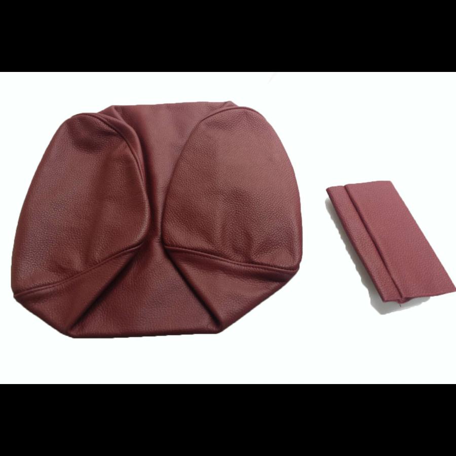 Garniture origine siège AV cuir rouge (assise dossier panneau de fermeture et housse pour repose-tête) Citroën SM-5
