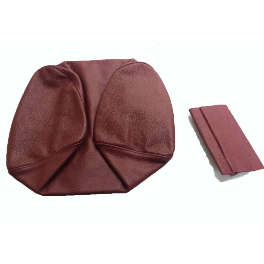 Original front seat cover red leather (seat back closing panel and head rest cover) Citroën SM-5