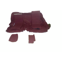 thumb-Original rear bench cover red leather (seat: 1 piece back: 4 pieces) Citroën SM-2