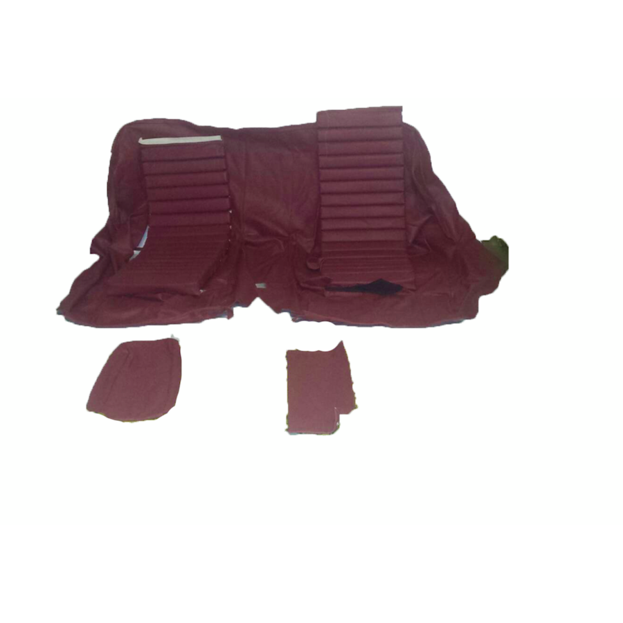 Original rear bench cover red leather (seat: 1 piece back: 4 pieces) Citroën SM-2