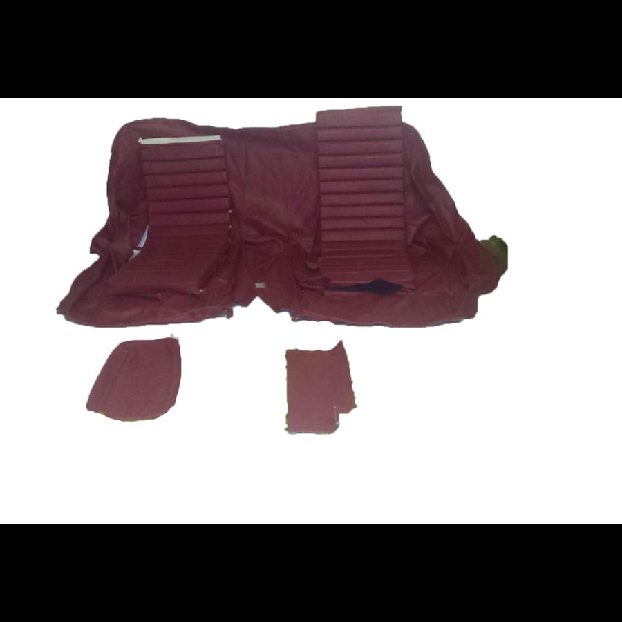 Original Sitzbezug Satz für Hinterbank Leder rot (Sitz 1 Teil Rückenlehne 4 Teile) Citroën SM-2