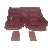 thumb-Original rear bench cover red leather (seat: 1 piece back: 4 pieces) Citroën SM-3