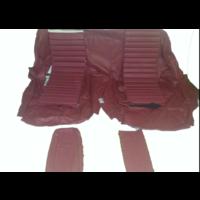 thumb-Original Sitzbezug Satz für Hinterbank Leder rot (Sitz 1 Teil Rückenlehne 4 Teile) Citroën SM-3