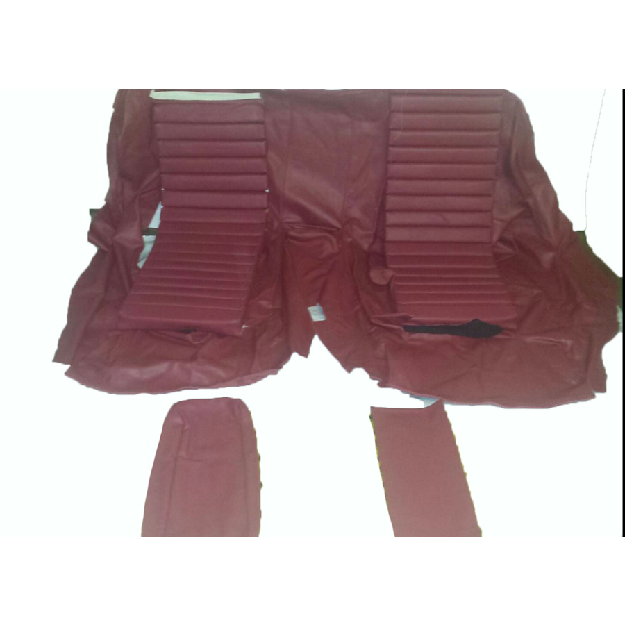 Original Sitzbezug Satz für Hinterbank Leder rot (Sitz 1 Teil Rückenlehne 4 Teile) Citroën SM-3