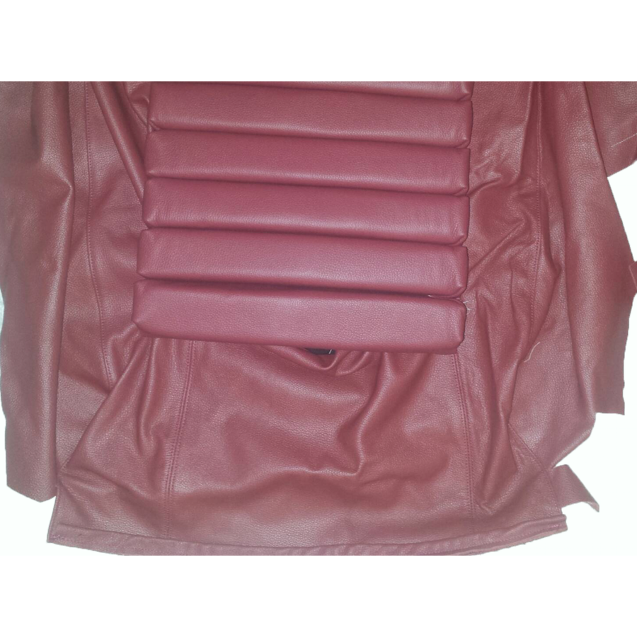 Original rear bench cover red leather (seat: 1 piece back: 4 pieces) Citroën SM-4