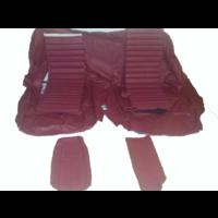 thumb-Original Sitzbezug Satz für Hinterbank Leder rot (Sitz 1 Teil Rückenlehne 4 Teile) Citroën SM-5