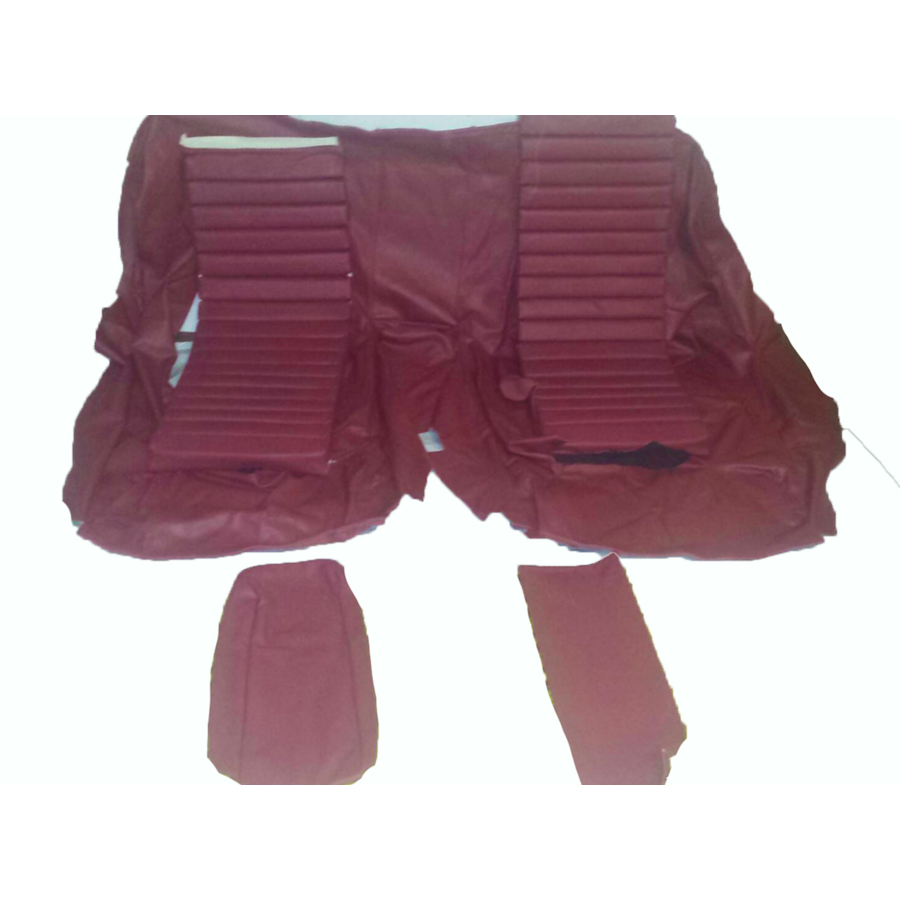 Original rear bench cover red leather (seat: 1 piece back: 4 pieces) Citroën SM-5