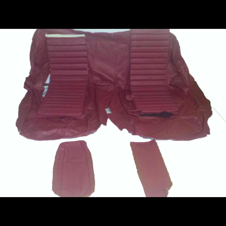 Original Sitzbezug Satz für Hinterbank Leder rot (Sitz 1 Teil Rückenlehne 4 Teile) Citroën SM-5