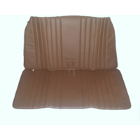 thumb-Original seat cover set in brown leatherette for foldable rear bench Ami Citroën 2CV-3