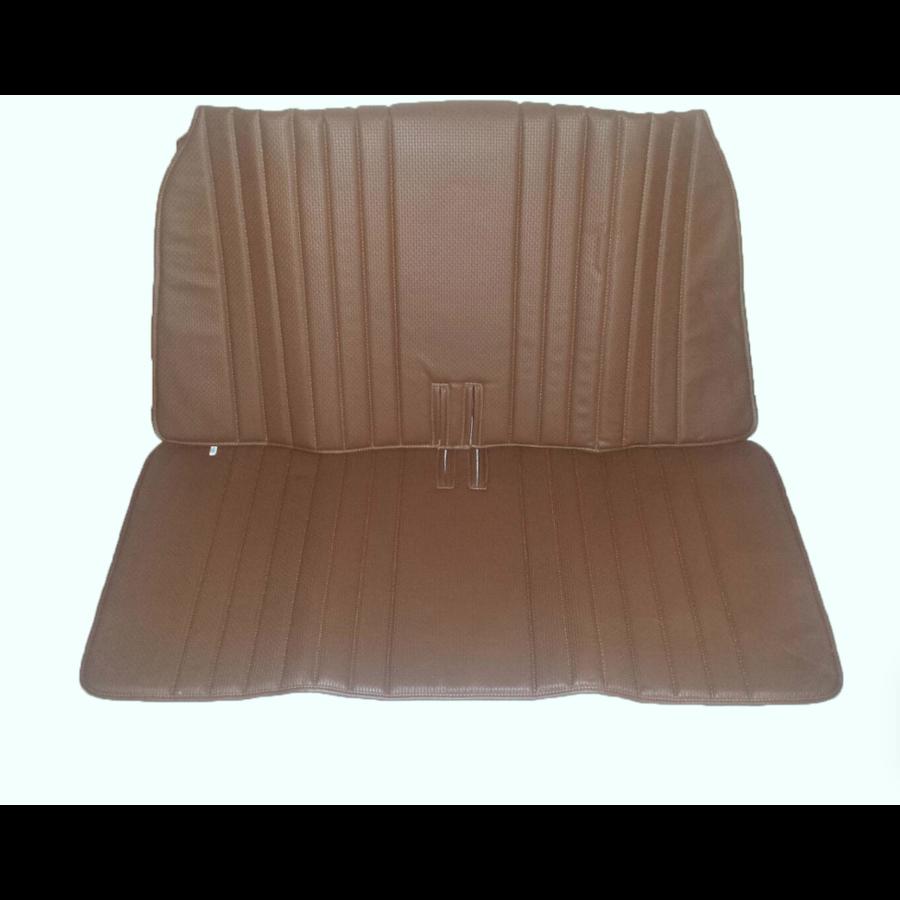 Achterbankhoes bruin skai voor inklapbare Dyane bank Citroën 2CV-3