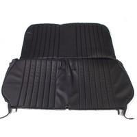 thumb-Original seat cover set in black leatherette for foldable rear bench Dyane Citroën 2CV-1