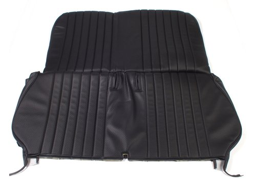 2CV Original seat cover set in black leatherette for foldable rear bench Dyane Citroën 2CV