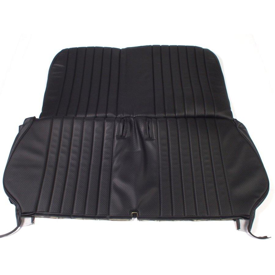 Original seat cover set in black leatherette for foldable rear bench Dyane Citroën 2CV-1