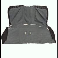 thumb-Original seat cover set in black leatherette for foldable rear bench Dyane Citroën 2CV-2