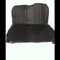 thumb-Original seat cover set in black leatherette for foldable rear bench Dyane Citroën 2CV-3