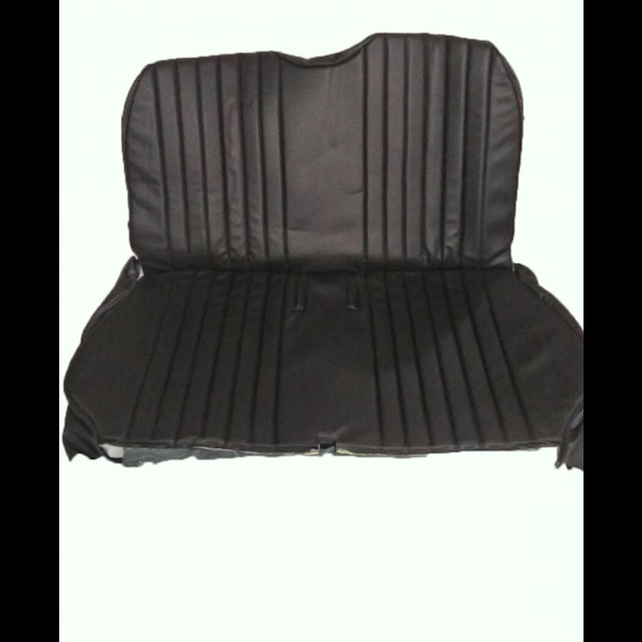 Original seat cover set in black leatherette for foldable rear bench Dyane Citroën 2CV-3