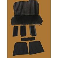 thumb-Original seat cover set in black leatherette for foldable rear bench Dyane Citroën 2CV-4