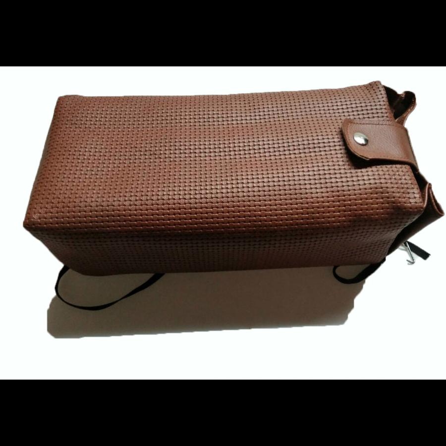 Central armrest brown pvc for Dyane Ami Visa etc Citroën 2CV-3