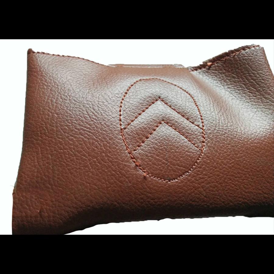 Apoio central para braço, completo, com revestimento em couro sintético marrom,, Dyane, Ami, Visa, etc Citroën 2CV-4