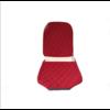 2CV Voorstoelhoes L rood stof Charleston naaipatroon 2 ronde hoeken Citroën 2CV