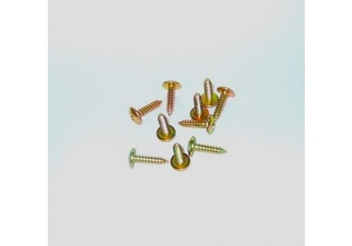 Tapping screw wide head yellow galvanized diam 45 mm length 20 mm Sold by 10 pcs