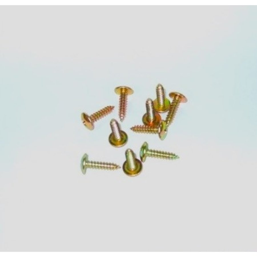 Tapping screw wide head yellow galvanized diam 45 mm length 20 mm Sold by 10 pcs-1