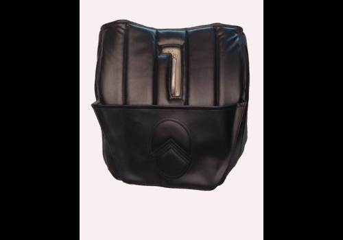 Dämmverkleidung für Stirnwand schwarzes Kunstleder mit Bahnen mit Kartentasche (Citroën logo) Citroën HY