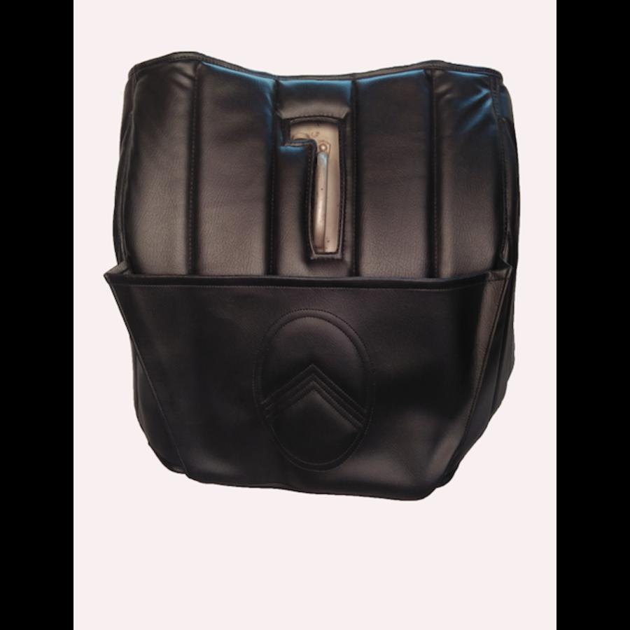 Dämmverkleidung für Stirnwand schwarzes Kunstleder mit Bahnen mit Kartentasche (Citroën logo) Citroën HY-1