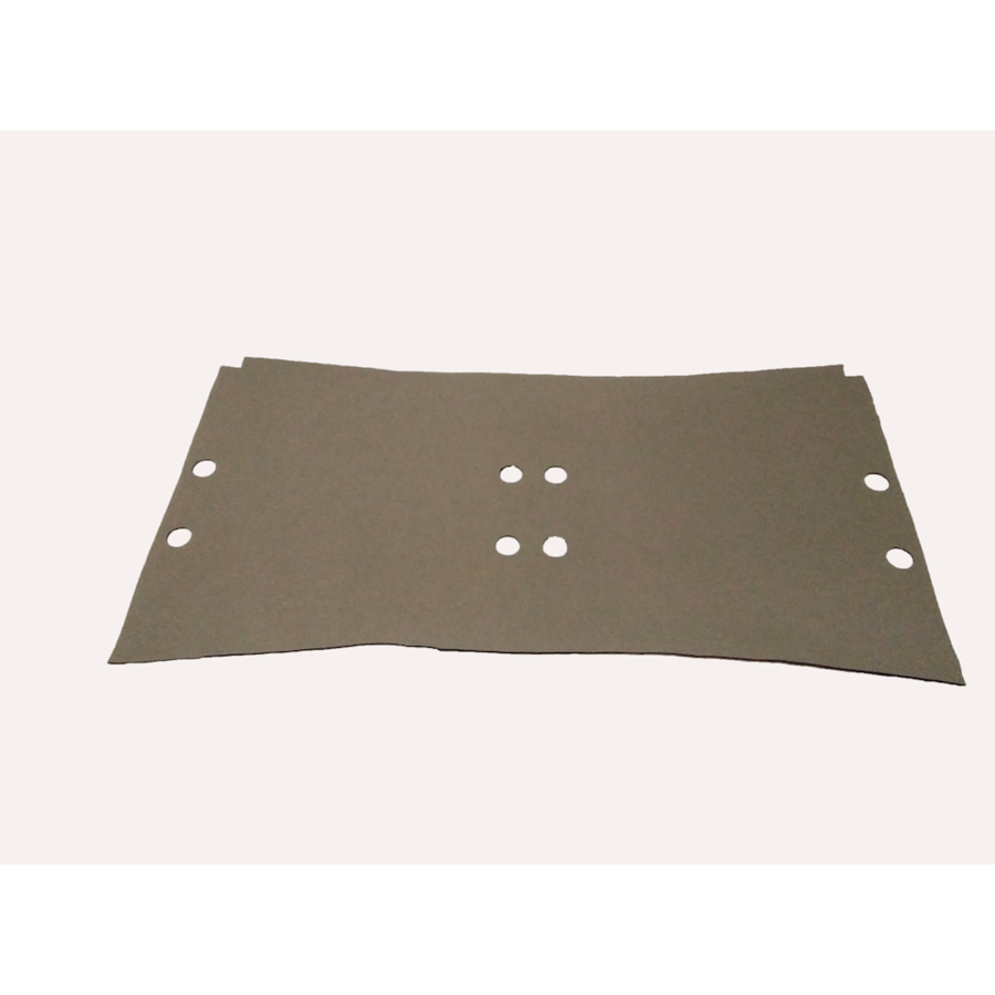 Floor trim under front seats in light gray vinyl laminated with underlayer Citroën ID/DS-3