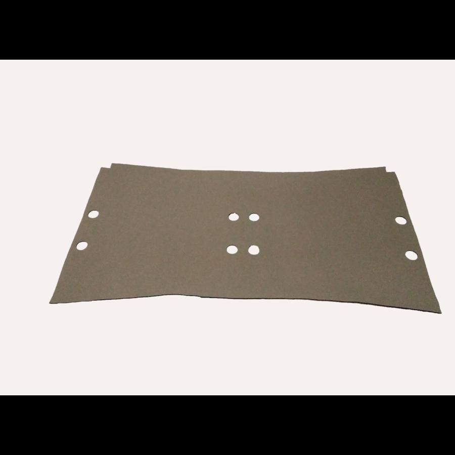 Garniture de sol en simili gris clair sous les sieges AV [+/-1245 x750] 4mm Citroën ID/DS-3