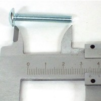 thumb-Schraube (diam 45mm) L = 20 mm gelbverzinktFastenerMaterial-2