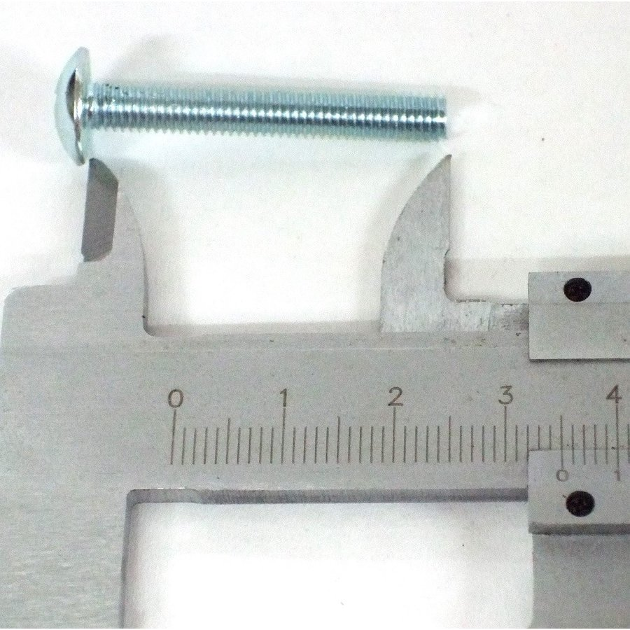 Plaatschroef M5 x 35 mm met brede kop kruiskop verzinkt-2