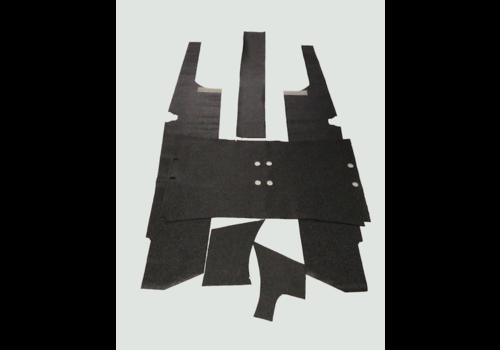 Floor trim set dark gray 6 pieces Citroën ID/DS