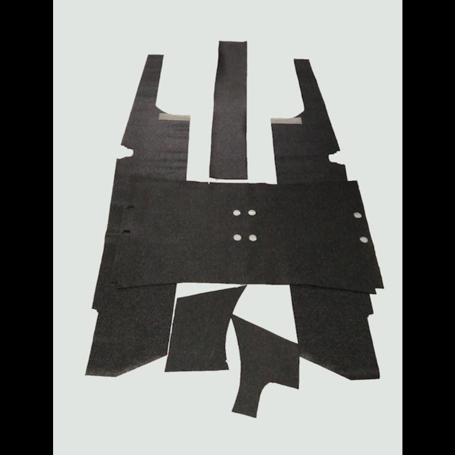 Bodemset compleet donker grijs PVC materiaal Citroën ID/DS-1