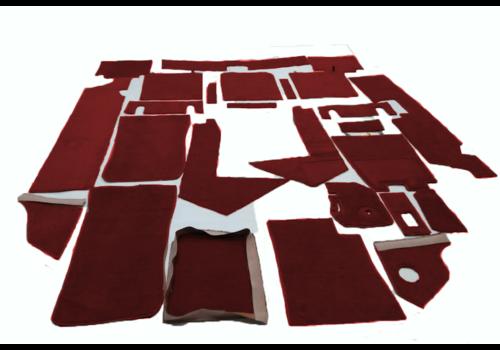 SM Complete set of carpet mat pieces red Citroën SM